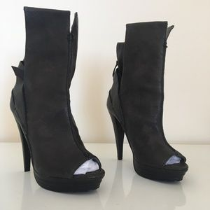 7 For All Mankind Peep Toe Booties
